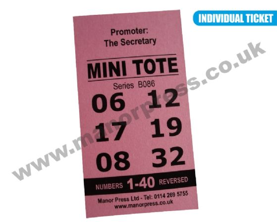 1 x Pack of Stock Mini Totes - 1-31